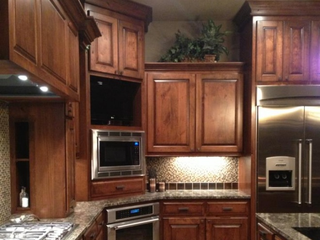 Custom Brown Kitchen