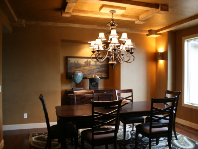 Heavy Chandelier Dining Room