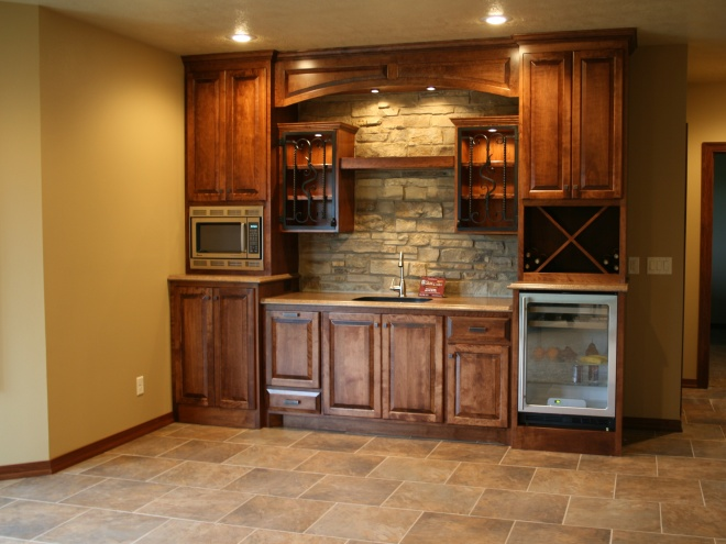 Stone Brick Mini Wet Bar