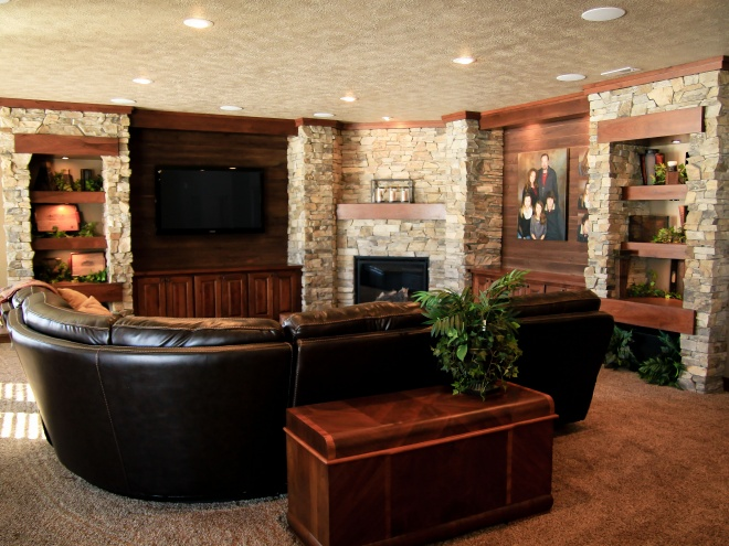 Heavy Stone Custom Build Fireplace