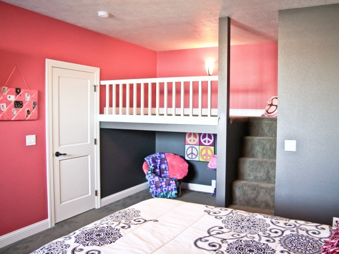 Custom Bunk Bed and Play Area