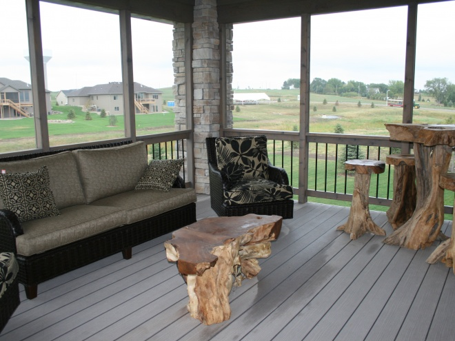 Custom Back Deck Decor
