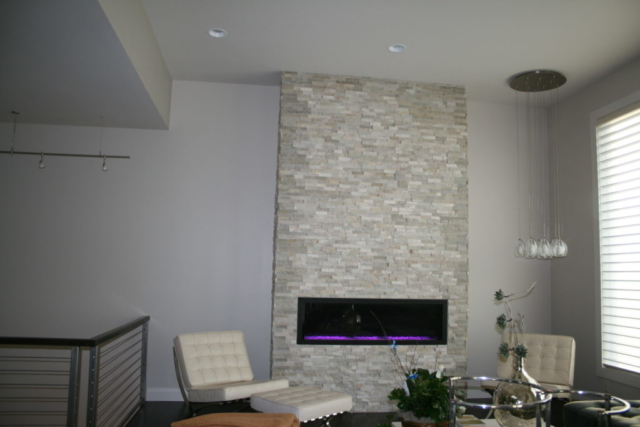 Modern and Sleek Fireplace