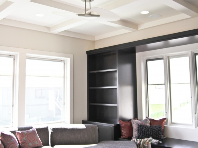 Custom Ceiling Beams and Book Shelf Build