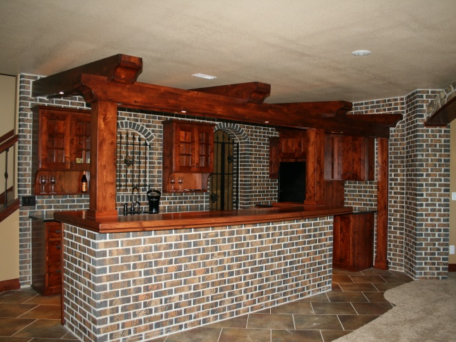 Custom Brick Wet Bar